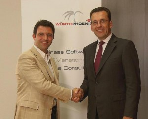 Raoul Volpe, COO of Asystel and Hubert Kofler, CEO of Würth Phoenix