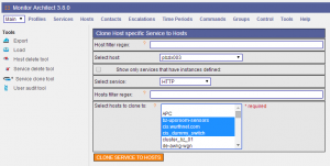 NetEye Configuration - Service Clone Tool