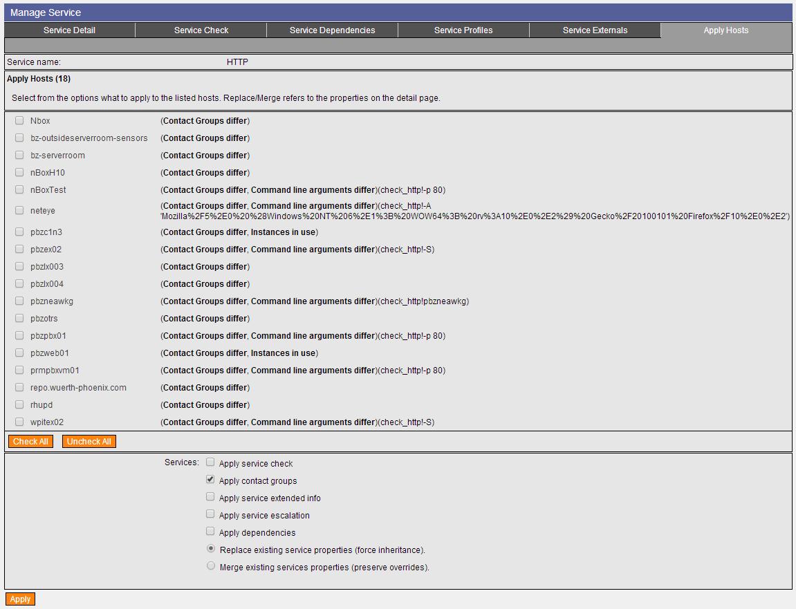 New Service Clone Tool – NetEye 3 5