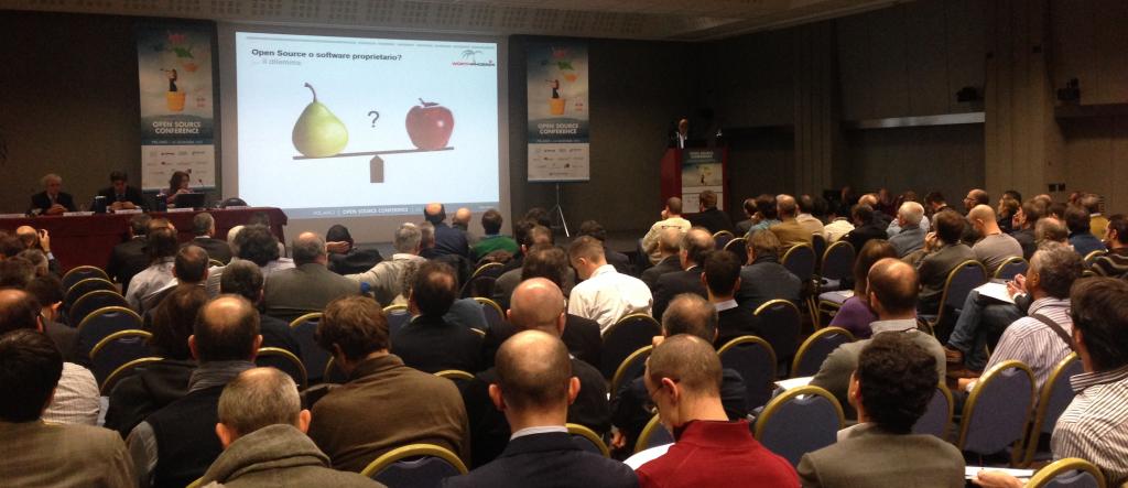 Vortrag Georg Kostner bei der Open Source Conference in Mailand
