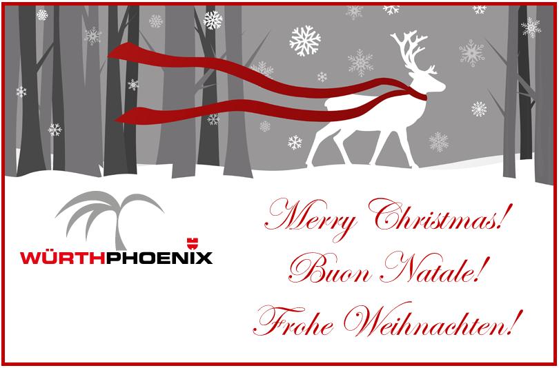 Merry Christmas - Buon Natale - Frohe Weihnachten