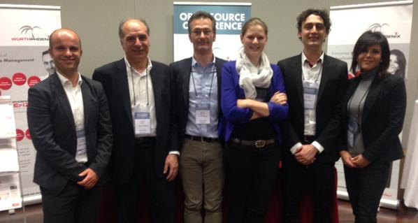 Würth Phoenix-Team auf der Open Source Conference Mailand
