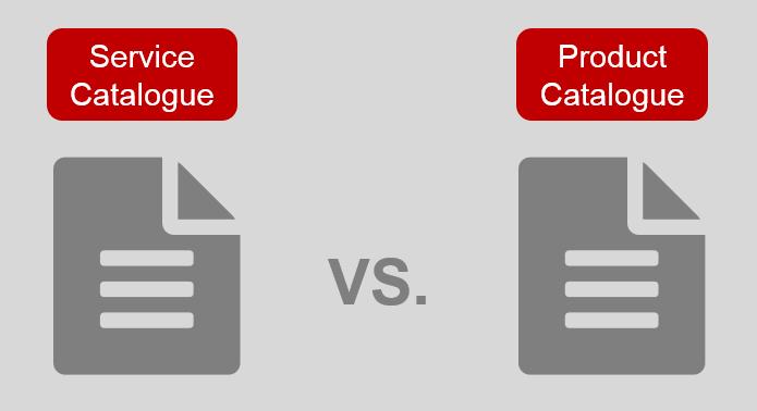EriZone Service Catalogue vs. Product Catalogue