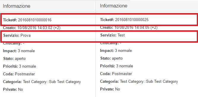 """Img.3: Information regarding the two tickets created by """"testuser"""""""