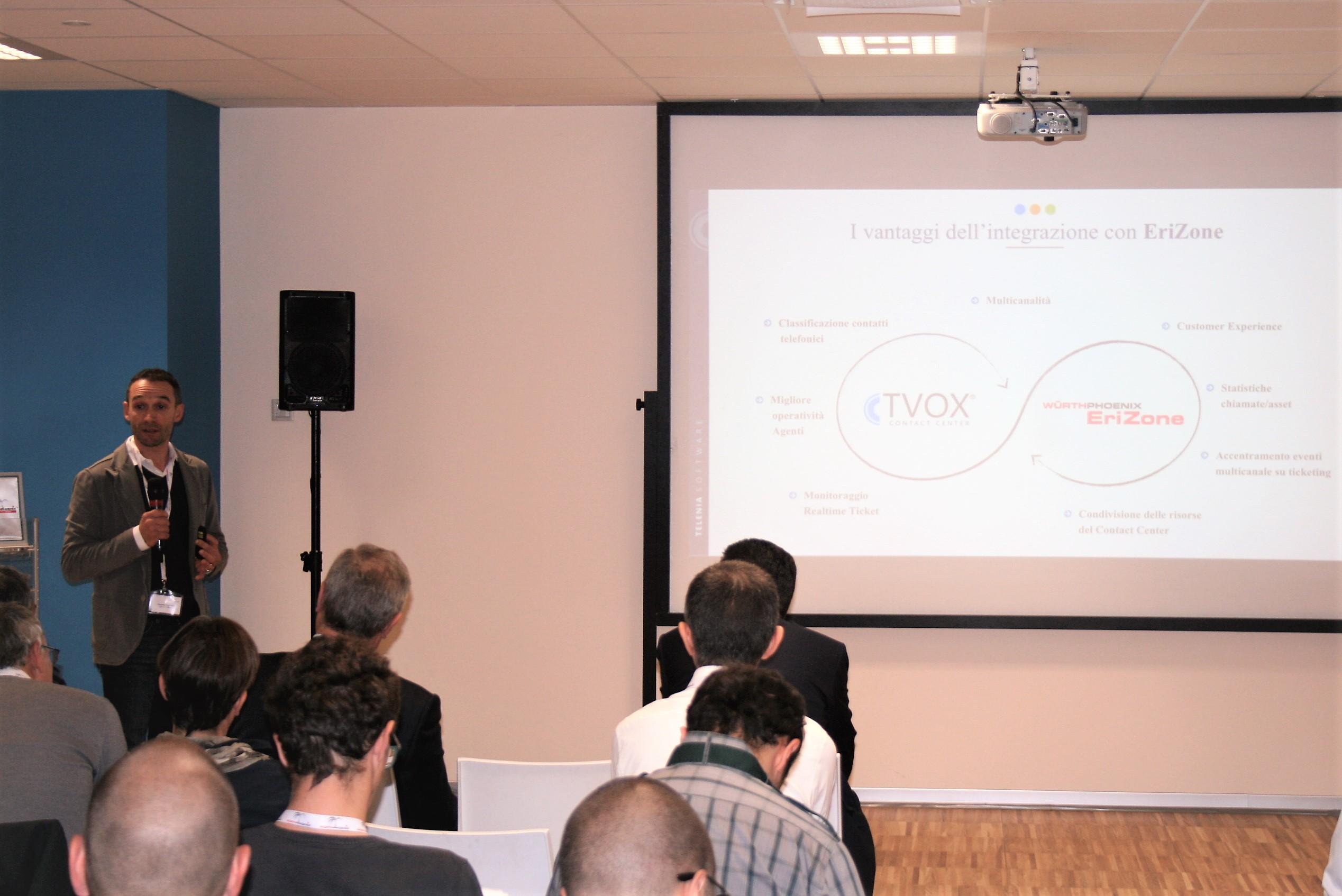 L'integrazione del sistema VOIP di Telenia con EriZone, presentata da Christian Tregnaghi