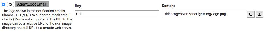 EriZone AgentLogoEmail configuration