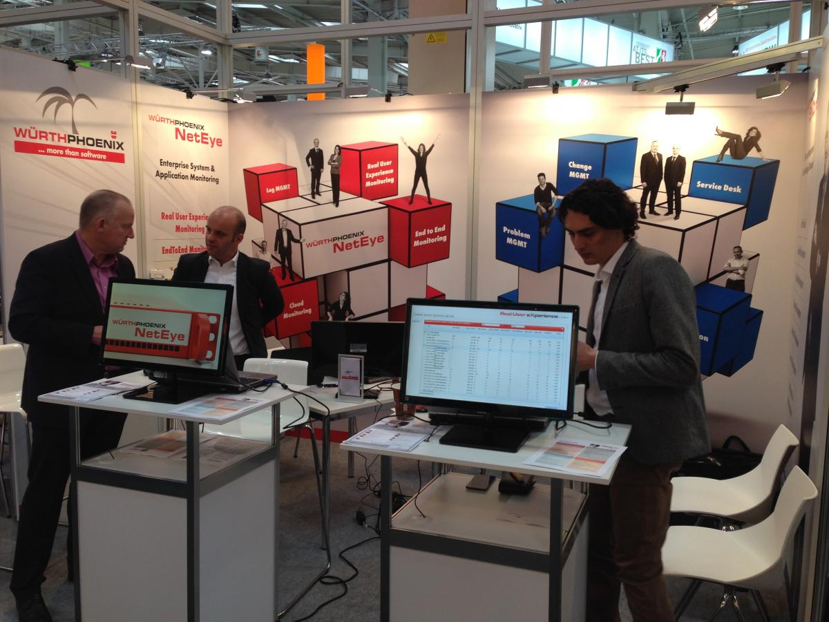 CeBIT 2015: The Würth Phoenix stand in the Open Source Park